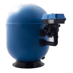 ansicht filterpumpe in blau